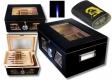 Black Wonderful Kristallglas Humidorset V-1320 inkl. Lifestyle-Ambiente Feuerzeug und Tastingbogen