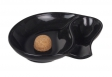 Pfeifenascher Kristallglas oval schwarz Hochglanz