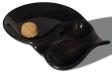 2er Pfeifenascher Keramik oval schwarz