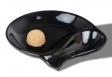 Pfeifenascher Keramik oval schwarz Hochglanz