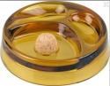 2er Pfeifenascher Kristallglas Amber
