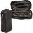 2er Pfeifentasche mit herausnehmbaren Tabakbeutel schwarz