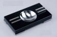 Pianolack Zigarrenascher schwarz Stainless Steel