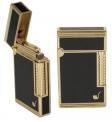 Stein - Pfeifenfeuerzeug Cozy Poseidon Gold Lack noir