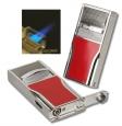 Zigarrenfeuerzeug Sarome Triple-Jet Zigarrenbohrer silver-red