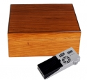 Cigar Oasis Ultra Savoy by Ashton Humidor Zebra Wood medium