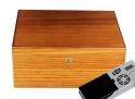 Cigar Oasis Ultra Savoy by Ashton Humidor Zebra Wood Large