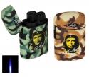 Set 2 Stk Jetflamme-Feuerzeuge - Sturmfeuerzeuge Camouflage Che Guevara