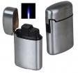 Jetflamme-Feuerzeug - Sturmfeuerzeug metal gebürstet