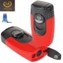 Myon-Paris Zigarrenfeuerzeug Tischfeuerzeug 4fach Jet, Bohrer red