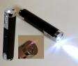 Illume Turbo Tischfeuerzeug mit integrierter Taschenlampe schwarz