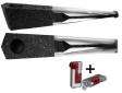 Vauen Pfeife Quixx sand schwarz + Winjet Pfeifenfeuerzeug