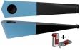 Vauen Pfeife Quixx pastell blau + Winjet Pfeifenfeuerzeug