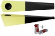 Vauen Pfeife Quixx pastell gelb + Winjet Pfeifenfeuerzeug