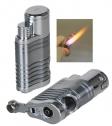 Winjet 4fach Jet Zigarrenfeuerzeug silber mit Zigarrenbohrer