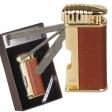 Pfeifenfeuerzeug Winjet Davos Leder-Gold