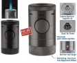 Xikar Tischfeuerzeug Volta Quad Jet-Flamme schwarz