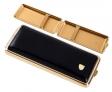 Austellungsstück vom Hofe Zigarettenetui - Zigarilloetui Leder schwarz 100mm Made in Germany 10er