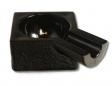 Zigarren Aschenbecher Einzelablage schwarz