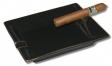 Ausstellungsstück Zigarrenascher Black/Gold 2 Ablagen 21 x 16,5cm