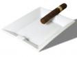 Keramik Zigarrenascher weiß