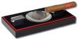 Pianolack Zigarrenascher schwarz-rot 2 Ablagen