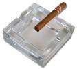 4er Zigarrenaschenbecher aus Kristallglas 12x12cm