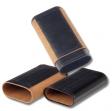 Zigarrenetui-Reisehumidor Double Robusto Teleskop 3er Zedernholz