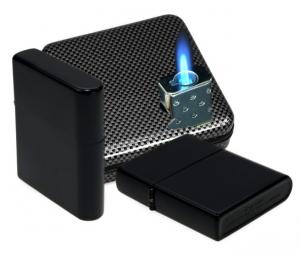 Z-Plus Feuerzeug Jet black matt