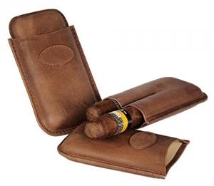 Zigarrenetui weiches Nappaleder Teleskop 2er Robusto