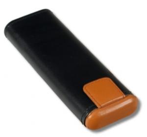 Leder Zigarrenetui bicolor Corona