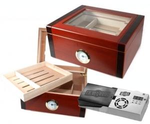 Cigar Oasis Ultra 2.0 Bicolor Edelhumidor Kristallglas V-480