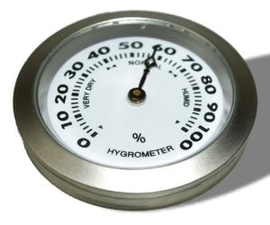 Front-Hygrometer Einbau Chrom 36mm