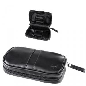 Angelo 2er Pfeifentasche mit herausnehmbaren Tabakbeutel schwarz
