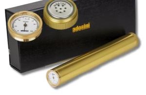 Adorini Cigar Tubo Humidor Zedernholz golden