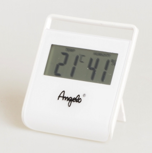 Angelo Digitales Thermo-Hygrometer weiss
