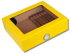 Angelo Humidor Yellow-Editon Sichtfenster