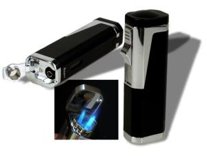 Zigarrenfeuerzeug Rio 3xLaser-Bohrer schwarz