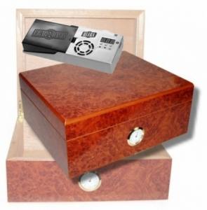 Amboina Maser Finish Humidor Hygro V- 380 Cigar Oasis Ultra 2.0 Cigar Oasis Ultra
