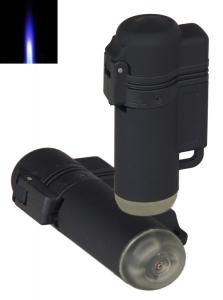 V-Fire Rubber Jetflamme-Feuerzeug schwarz