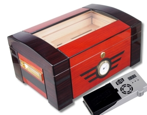 Furniervariation Humidor Palisander Ebony V-1105 Cigar Oasis Ultra 2.0 Cigar Oasis Ultra