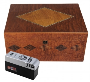 Cigar Oasis EXCEL Humidor Furniervariation 2 Ebenen digital