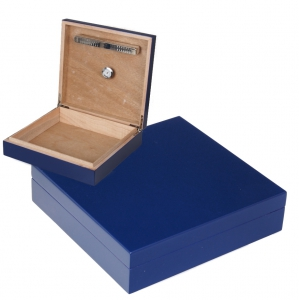 Office Humidor blau Polymerbefeuchter