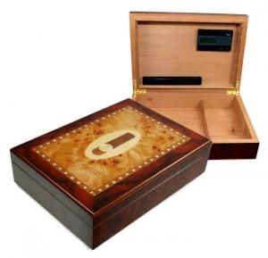 Profi Humidor Cigar Intarsien digital-selbstregulierend V-180