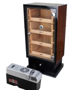 Cigar Oasis EXCEL Ebony Wood Humidorschrank Pianolack