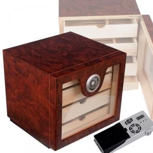 Cigar Oasis Ultra 2-0 Sonderangebot Wood-Finish Humidorschrank