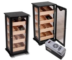 Black Humidor Gastro-Vitrine Imperial Cigar Oasis XL Cigar Oasis EXCEL