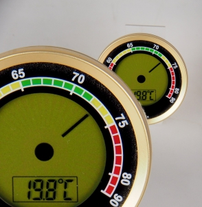 Caliber 4R Präzisions-Hygrometer +/-1 % RF gold