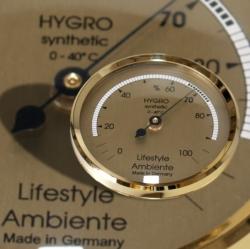 Lifestyle-Ambiente Profi-Humidor-Haar-Hygrometer gold-groß