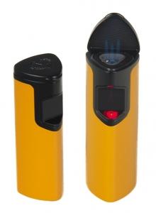 Myon-Paris Zigarren-Feuerzeug Racing Edition Space Sensor gelb 3 fach Laserflamme